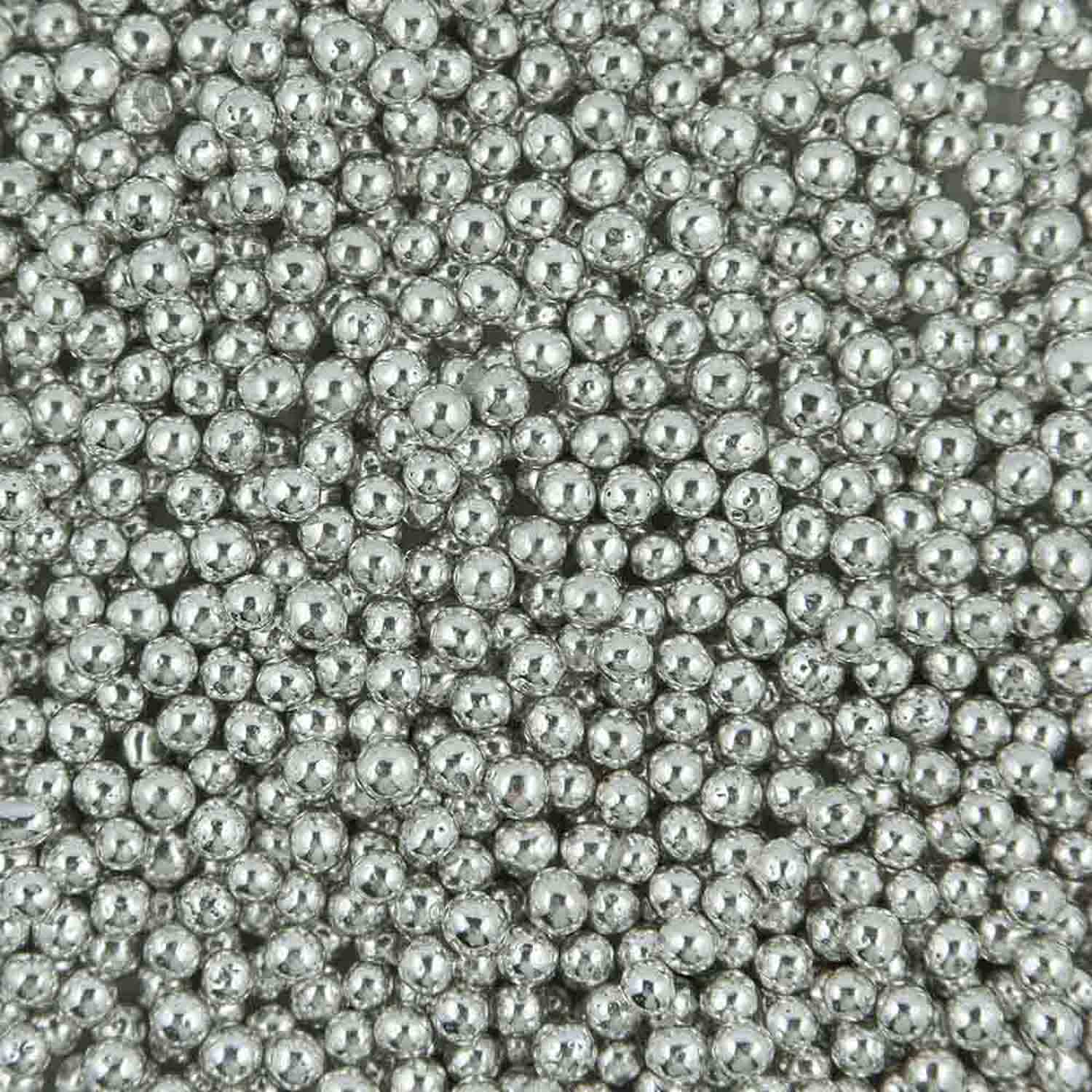 6mm Silver Dragees