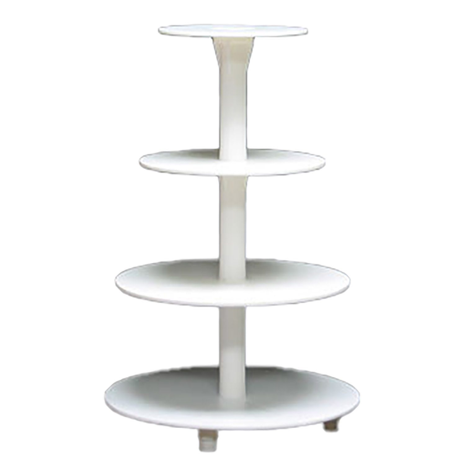 White 4 Tier Cupcake Stand
