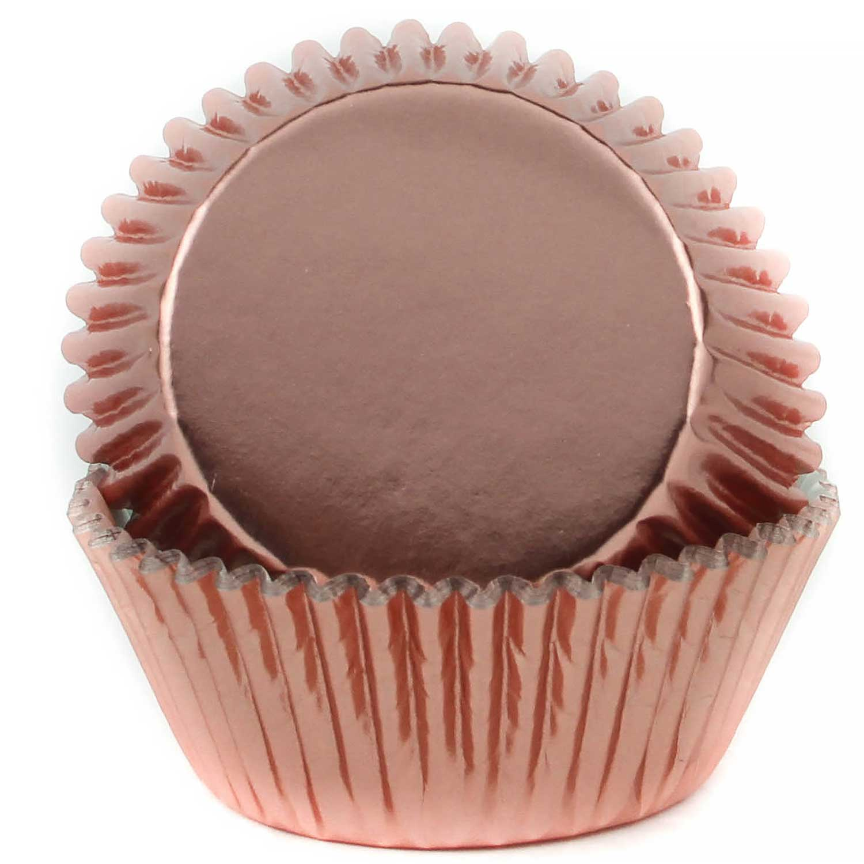 Metallic Rose Gold Foil Standard Baking Cups
