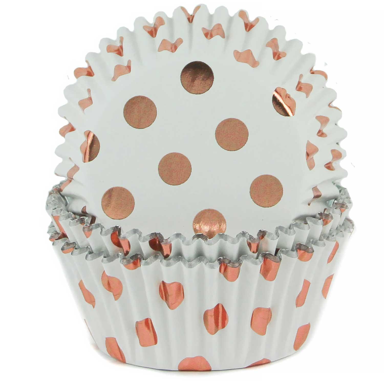 Rose Gold Polka Dot Standard Baking Cups