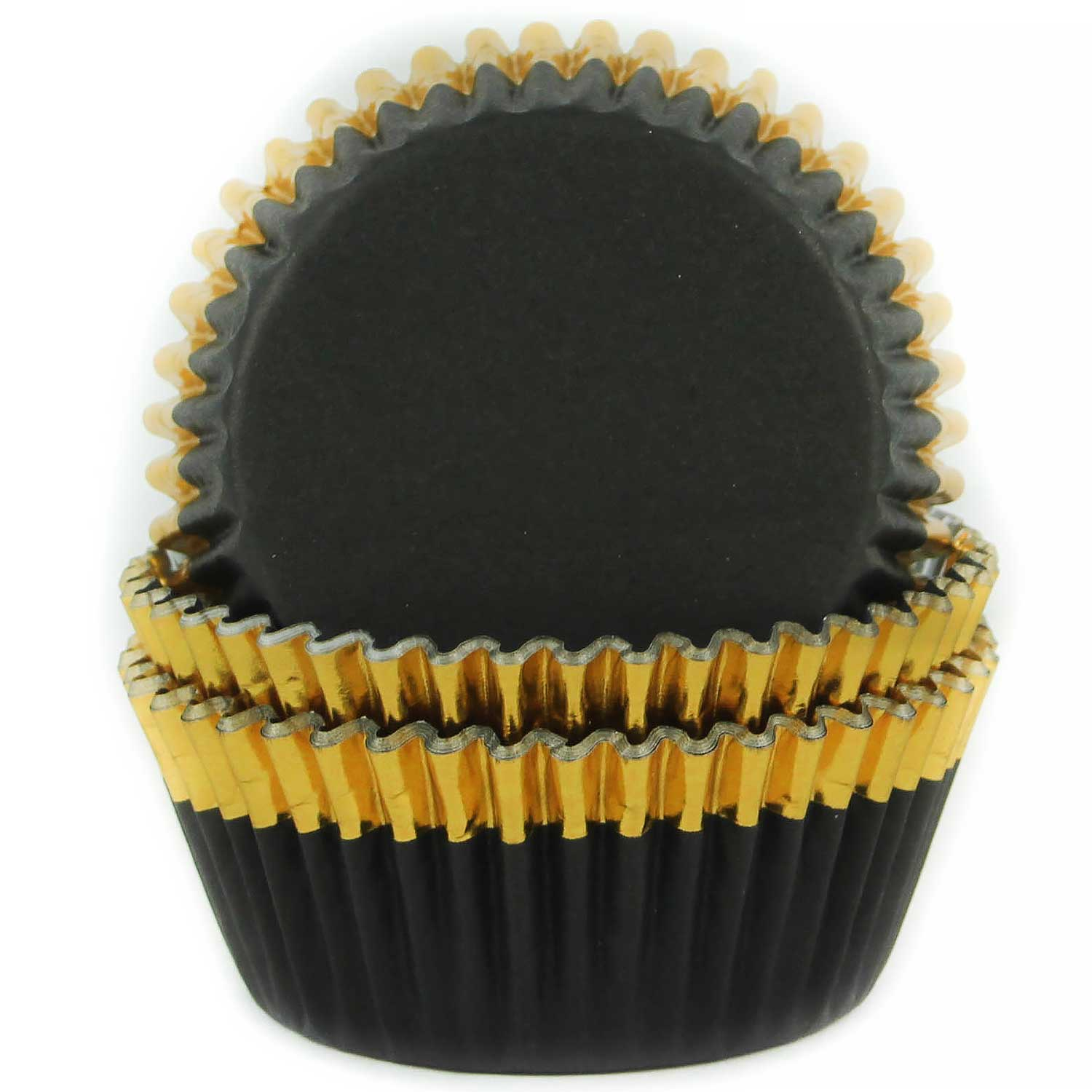 Black w/ Gold Trim Standard Baking Cups