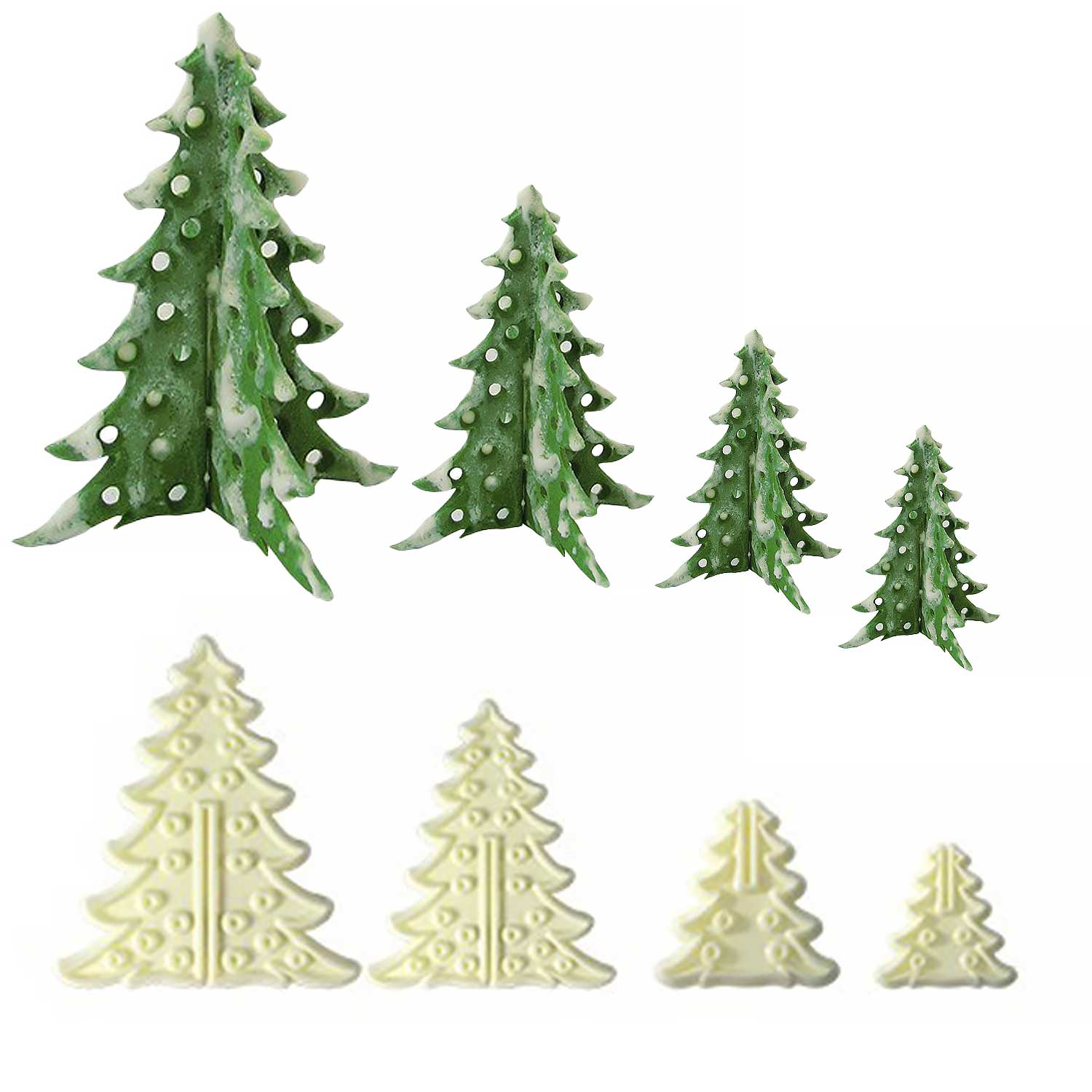 3D Christmas Trees Cutter Set