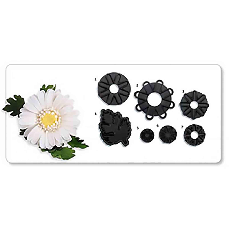 JEM Cutters - Chrysanthemum Daisies & Leaf