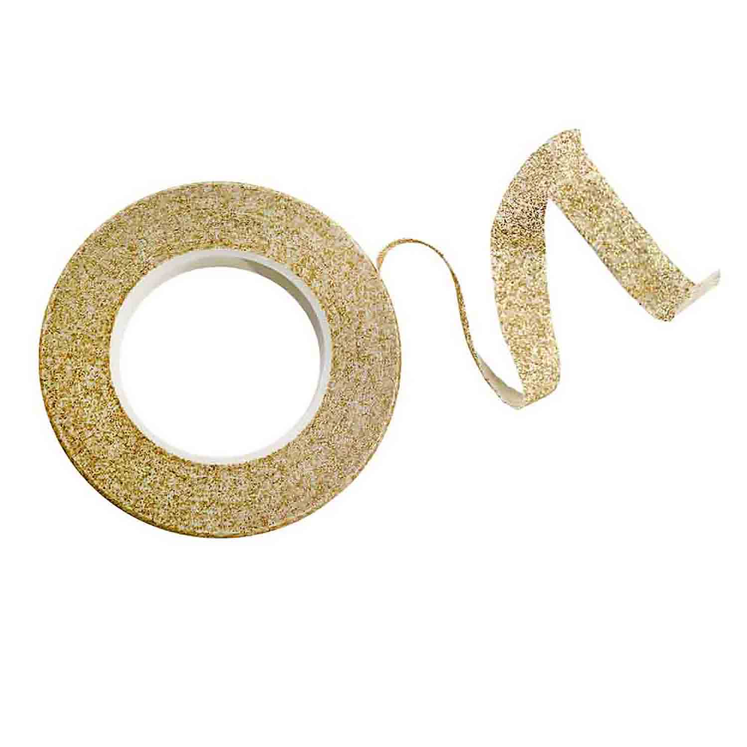 Gold Floral Sparkle Tape