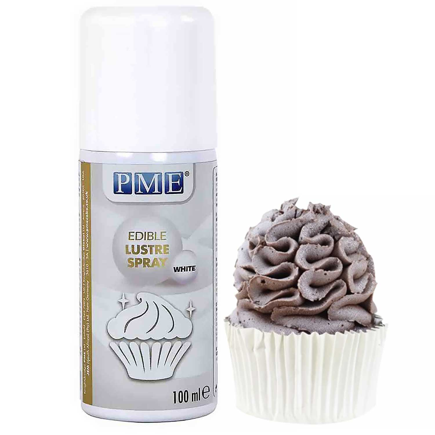 White Edible Lustre Spray