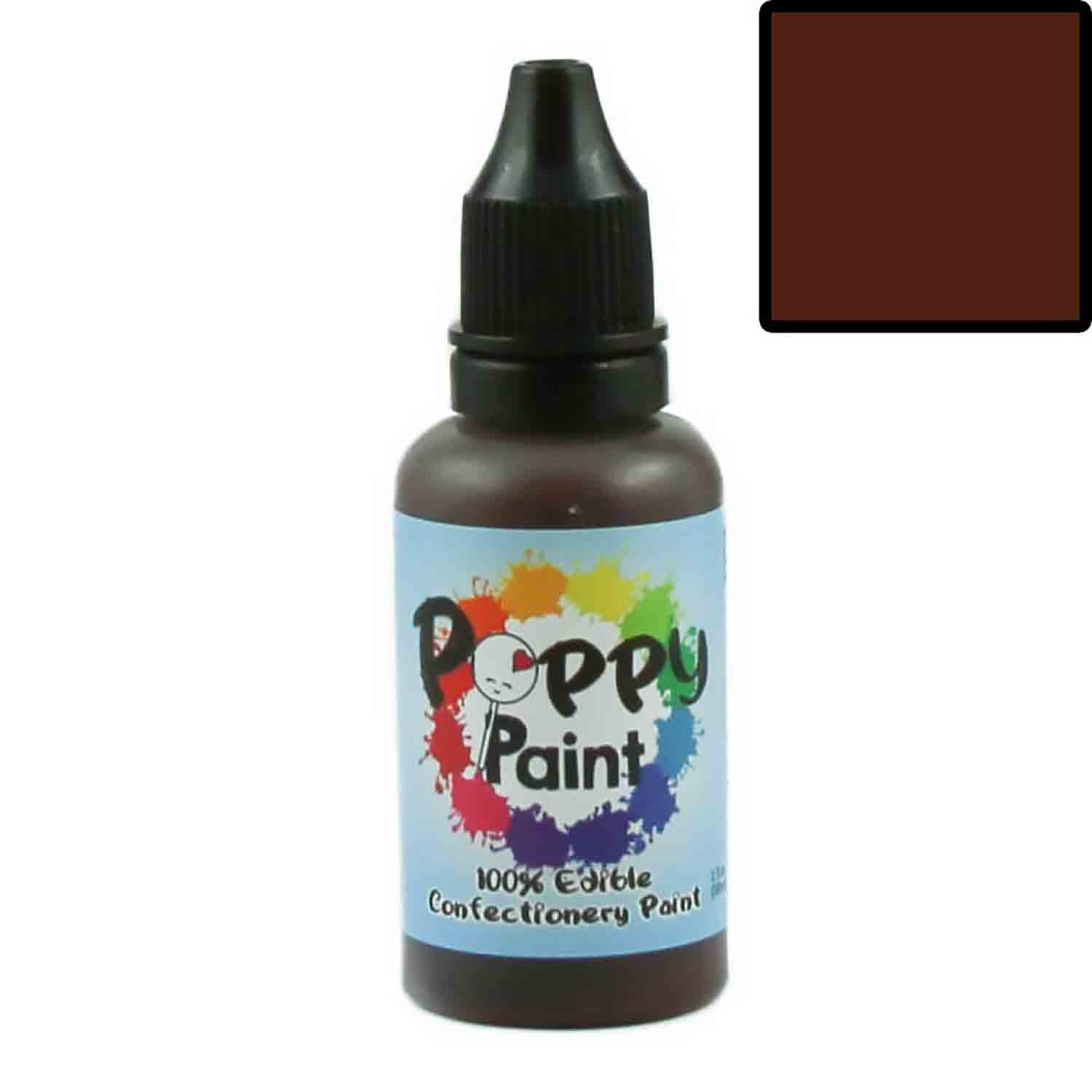 Brown Poppy Paint 100% Edible Confectionery Paint