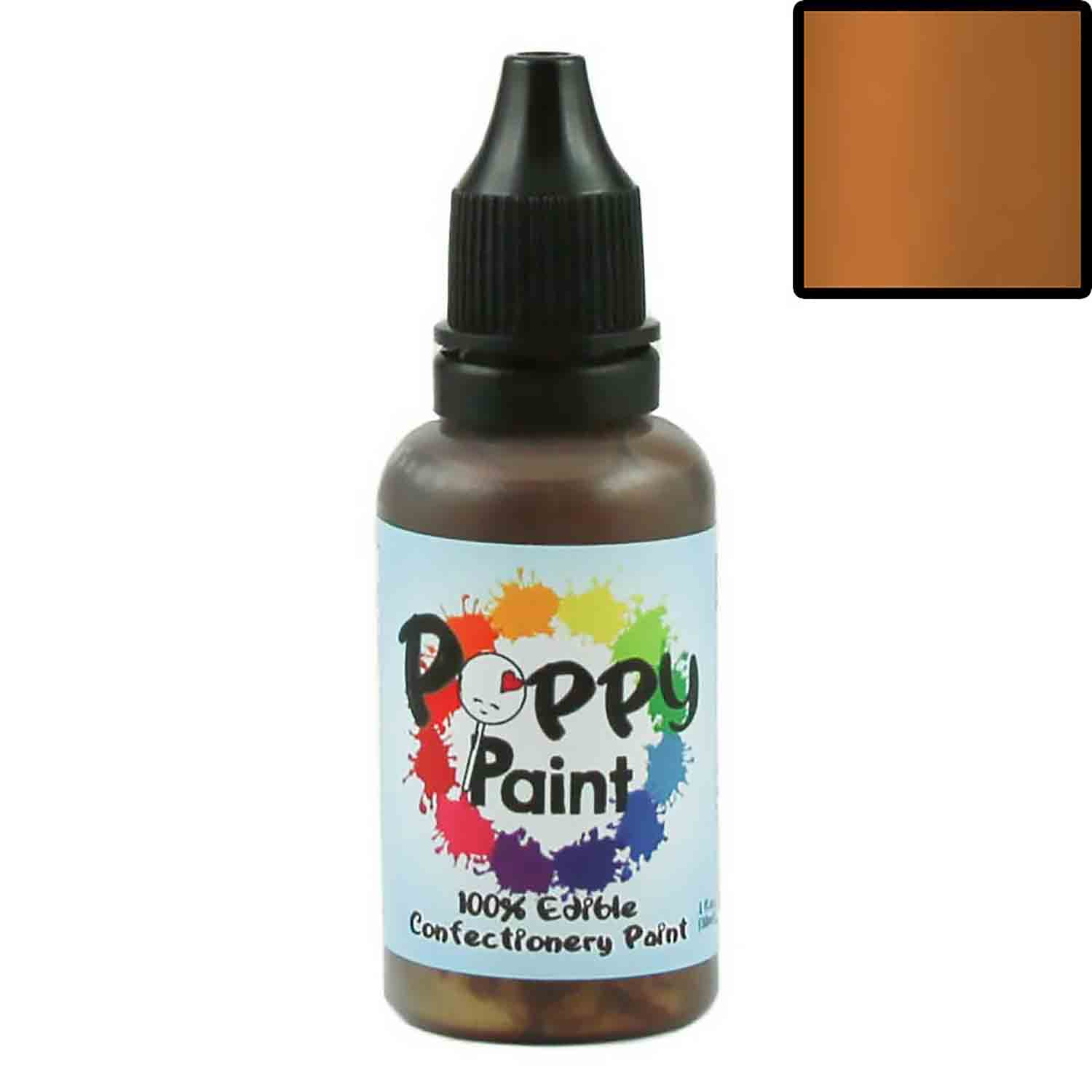 Bronze Pearlescent Poppy Paint 100% Edible Confectionery Paint