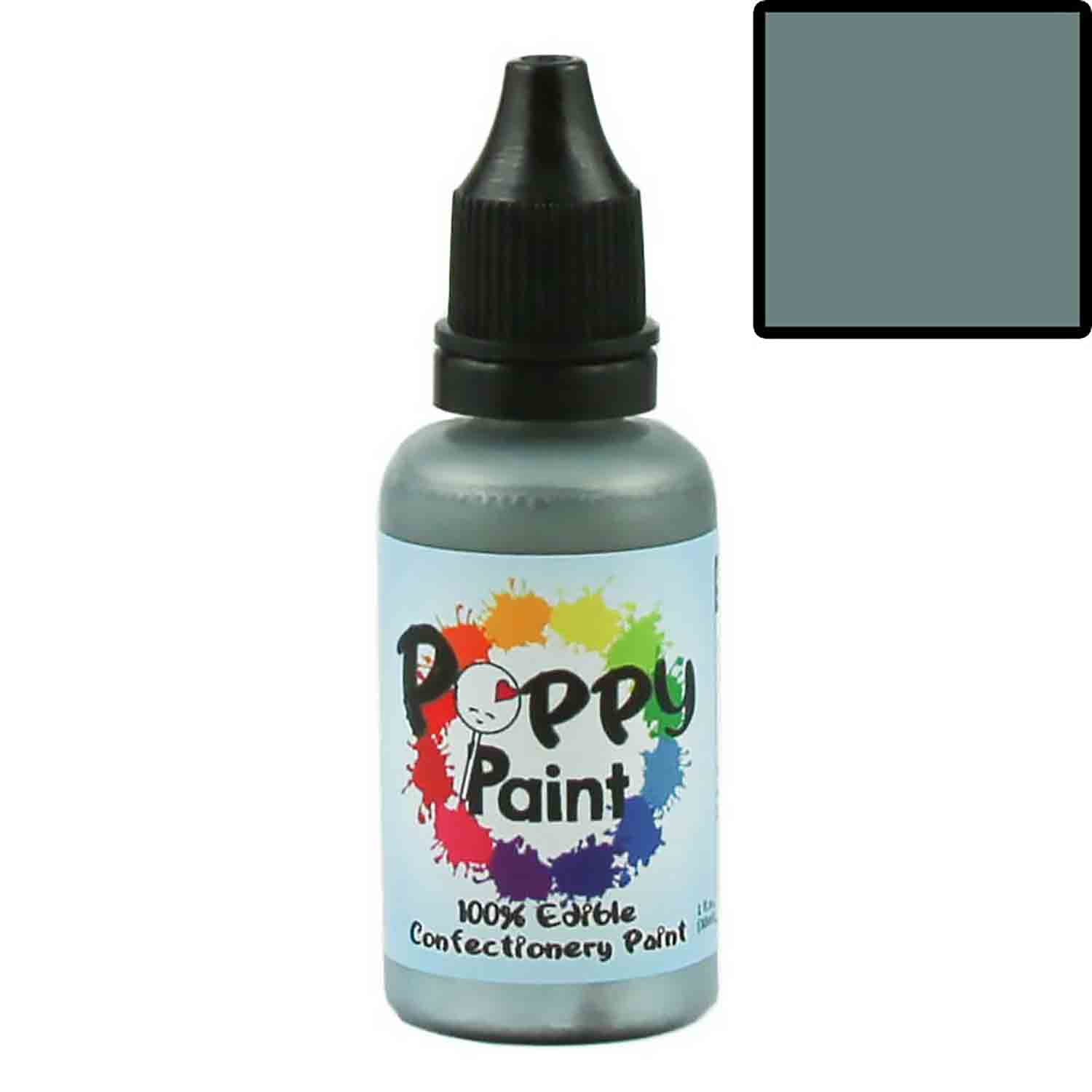 Gray Poppy Paint 100% Edible Confectionery Paint