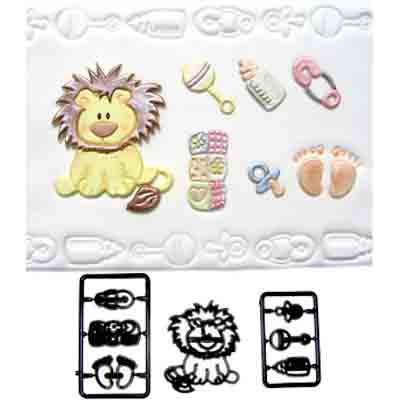 Baby Lion / Nursery Items Patchwork Cutter Set