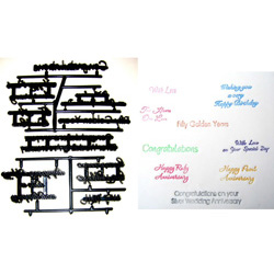 Wedding Celebration Lettering Patchwork Embossing Set