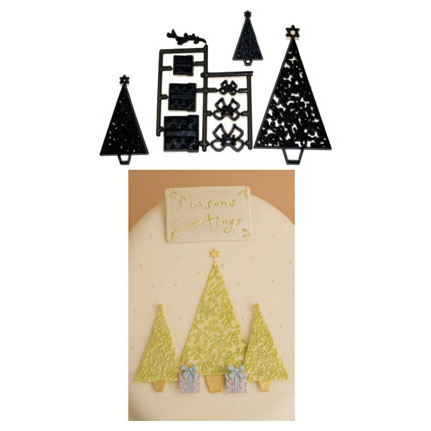 Christmas Tree and Parcel Patchwork Cutter Set