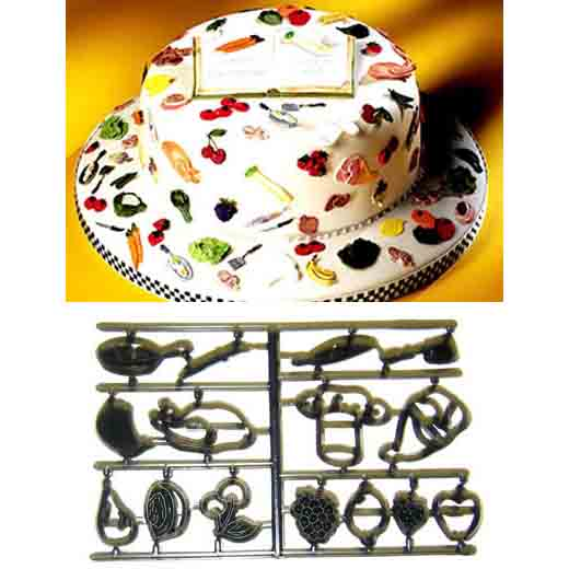 Fruit and Cooking Utensils Patchwork Cutter Set