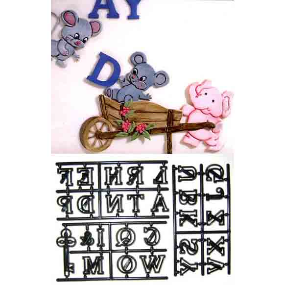 "1"" Large Alphabet and Key Patchwork Cutter Set"
