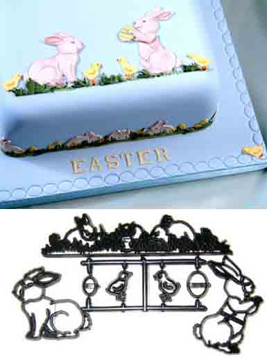 Rabbit, Chick and Egg Patchwork Cutter Set