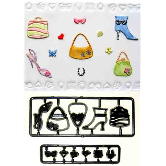 Shoes, Bags and Confetti Patchwork Cutter Set