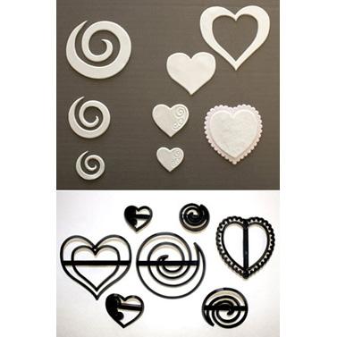 Swirls & Heart Patchwork Cutter Set