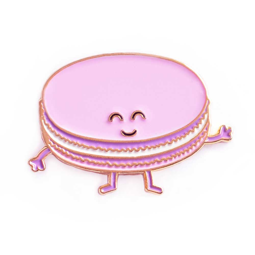 Purple Macaron Enamel Pin