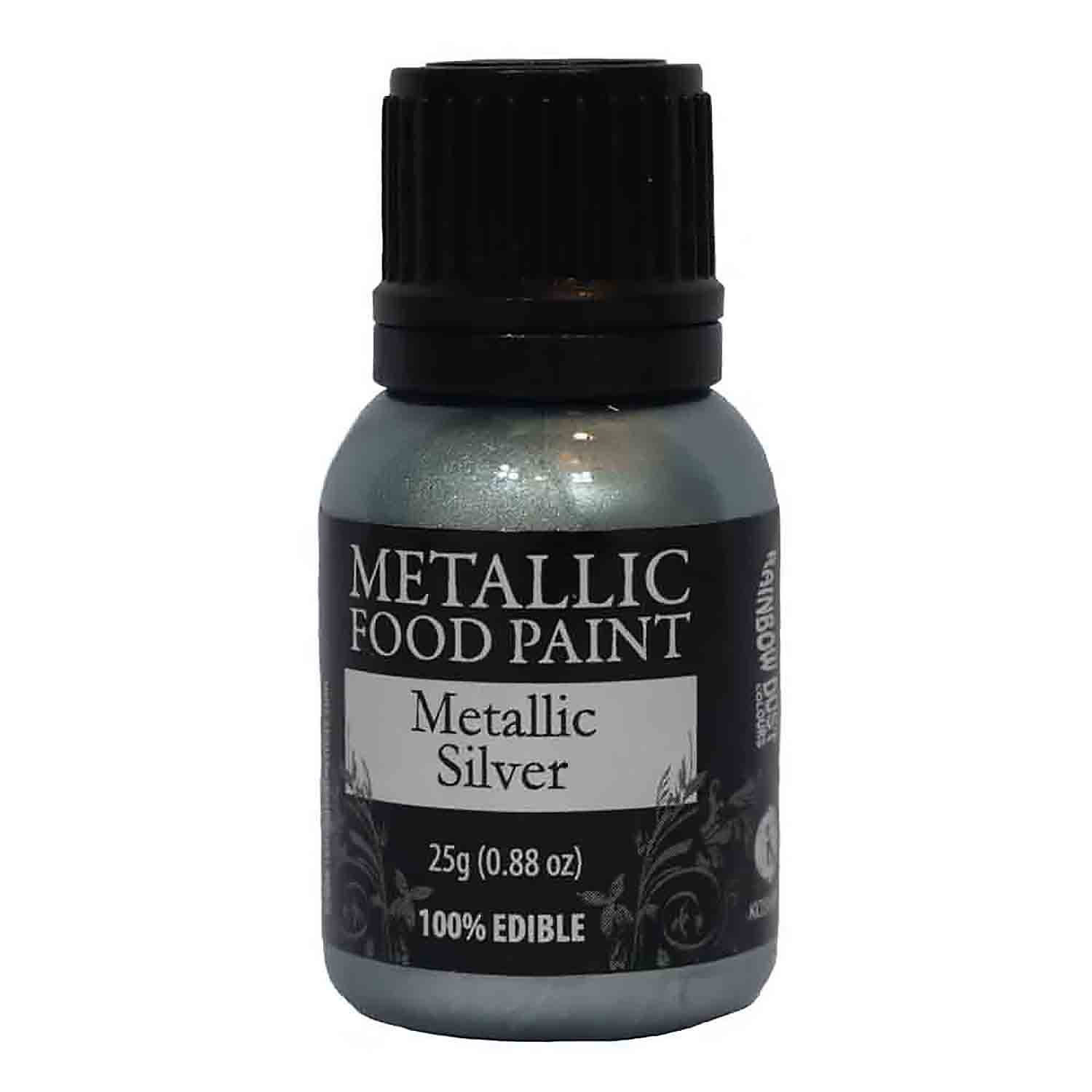 Metallic Silver Metallic Food Paint