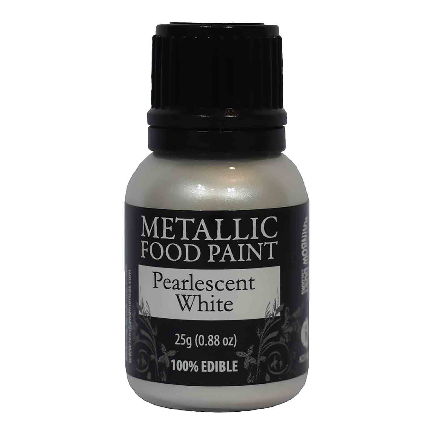 Pearlescent White Metallic Food Paint