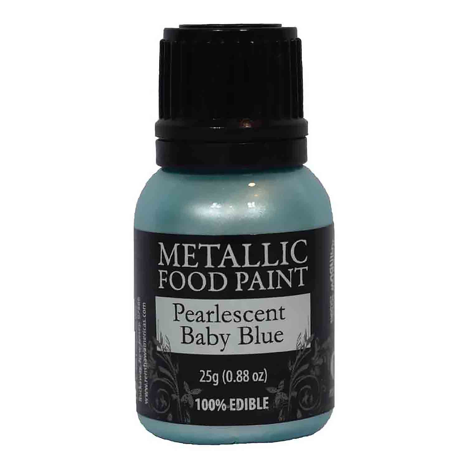 Pearlescent Baby Blue Metallic Food Paint