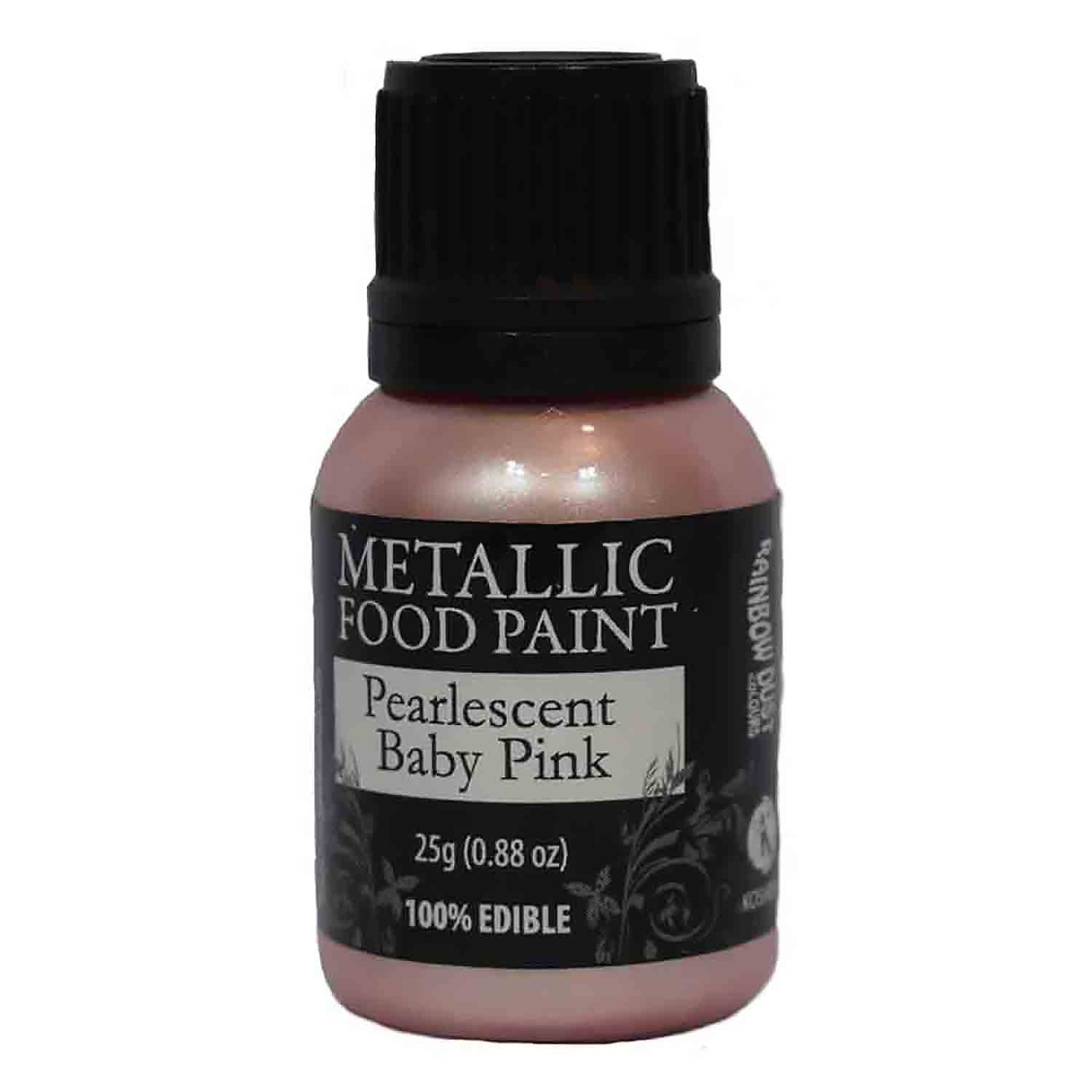 Pearlescent Baby Pink Metallic Food Paint