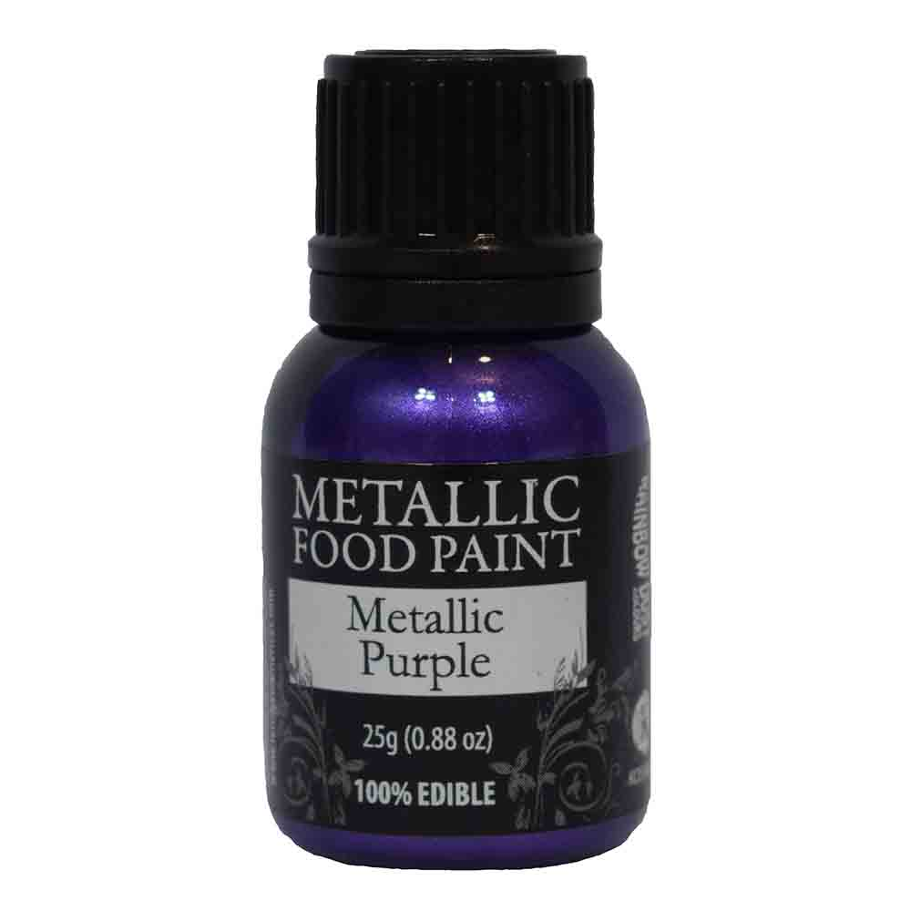 Metallic Purple Metallic Food Paint