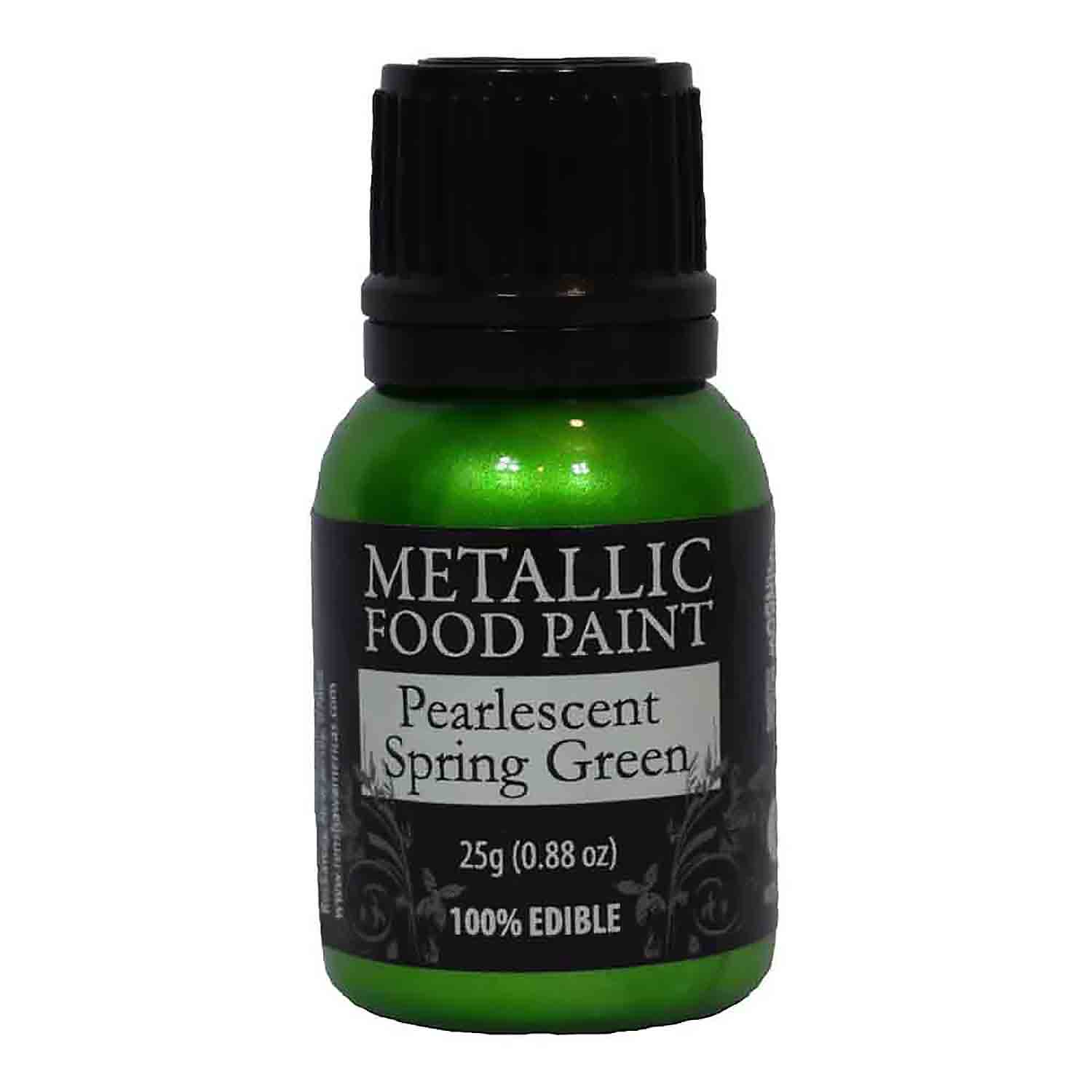 Pearlescent Spring Green Metallic Food Paint