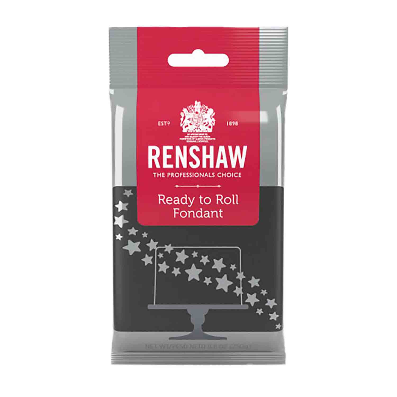 Black Ready to Roll Fondant by Renshaw