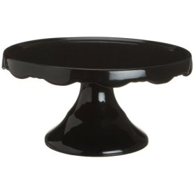 "10 1/2"" Black Pedestal Cake Stand"