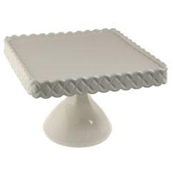 White Square Pedestal Stand