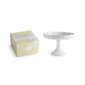 Round Rimmed Pedestal - White