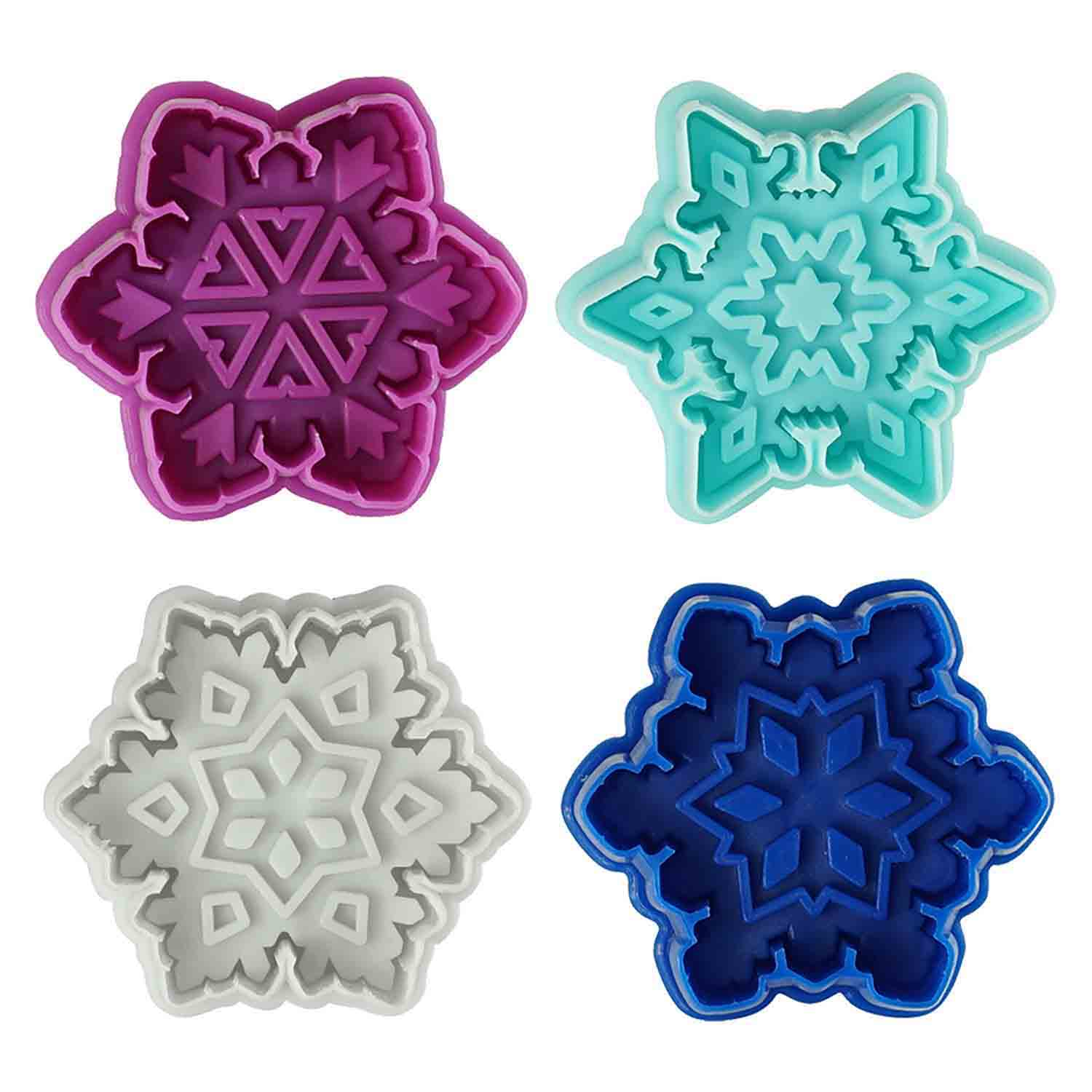 Snowflake Cookie Cutter Stamp Set