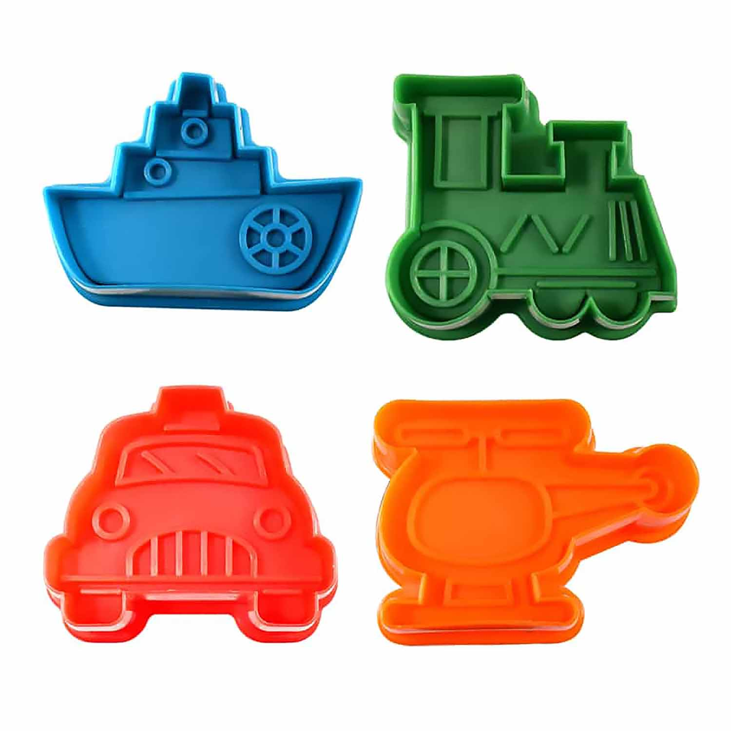 Transportation Cookie Cutter Stamp Set