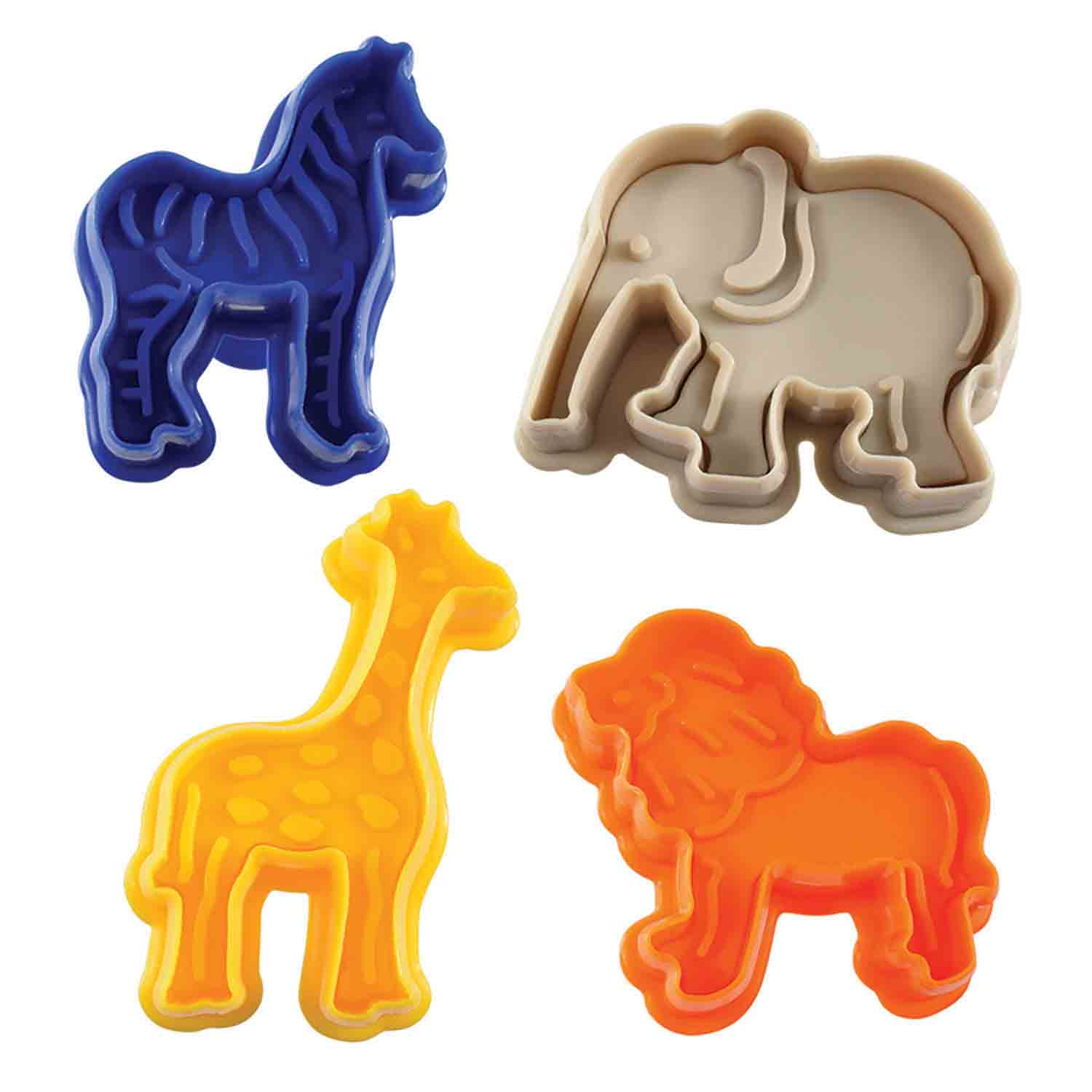 Jungle Animal Cookie Cutter Stamp Set