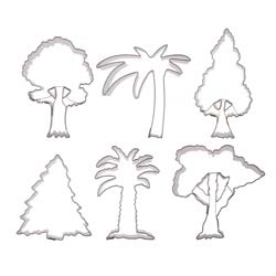 Tree Cookie Cutter Set