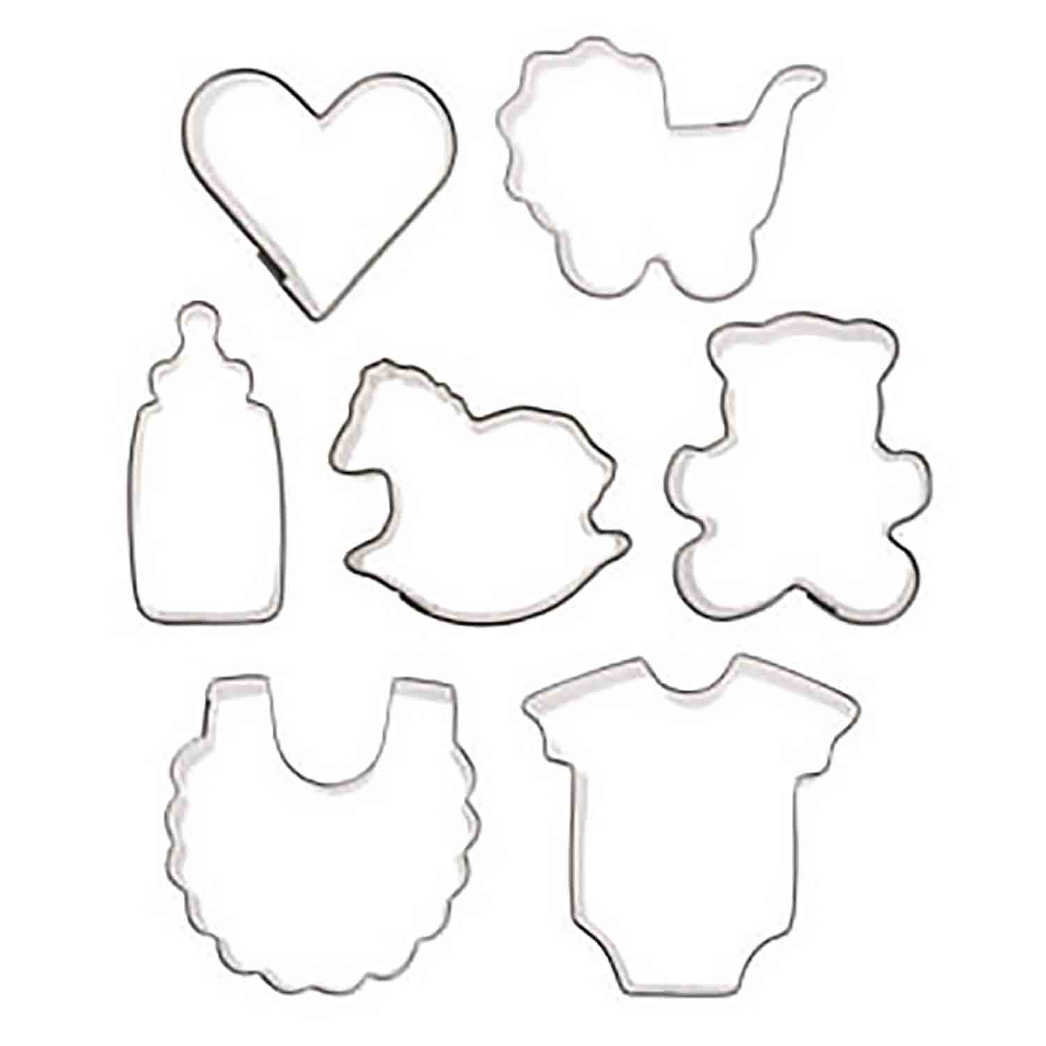 Mini Baby Cookie Cutter Set