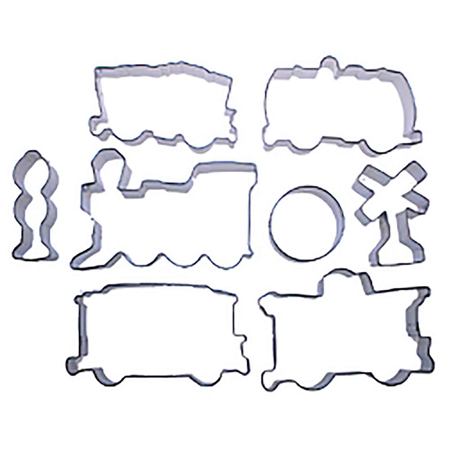 Large Train Cookie Cutter Set