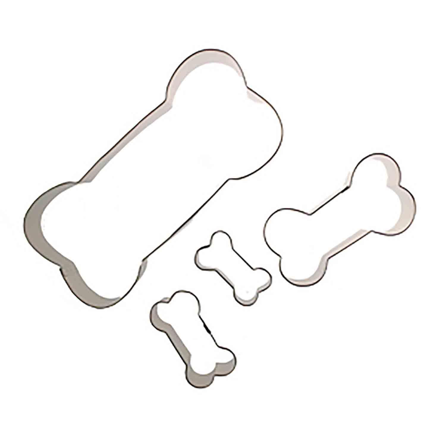 Dog Bone Cookie Cutter Set