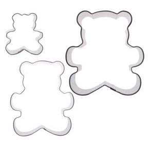 Teddy Bear Cookie Cutter Set