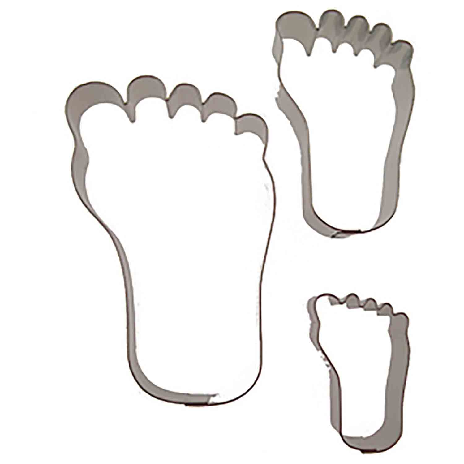 Feet Cookie Cutter Set