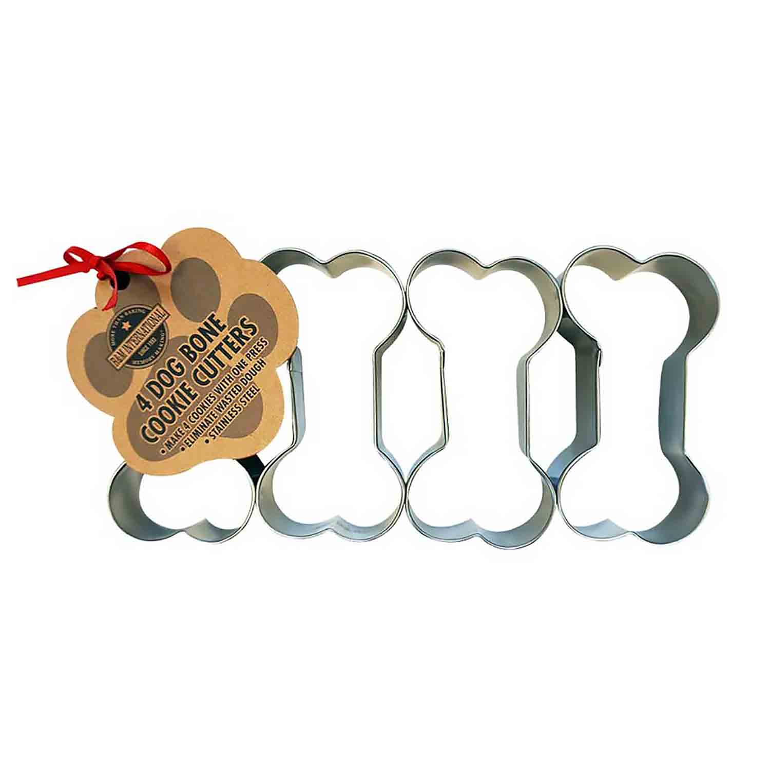 4-in-1 Dog Bone Cookie Cutter