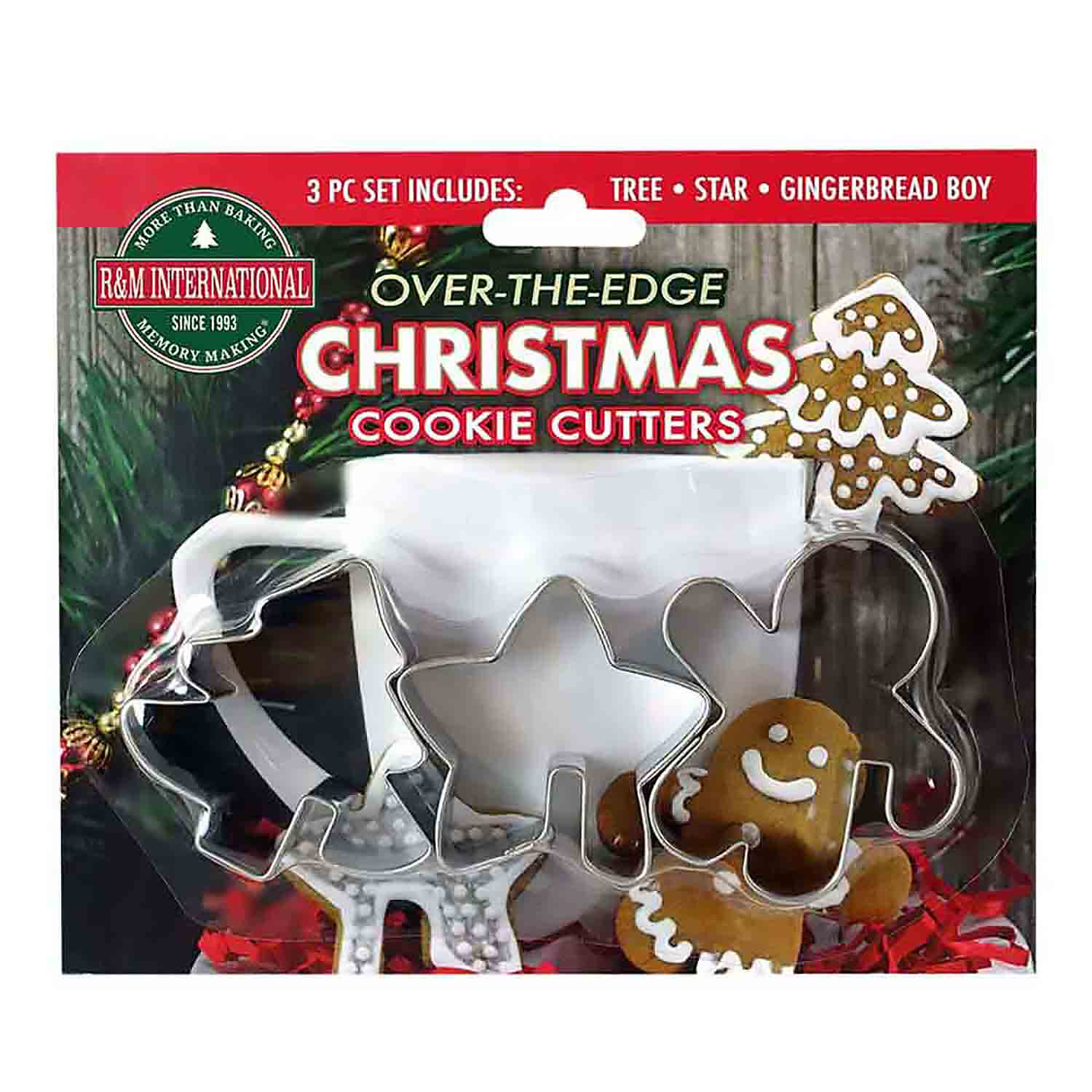 Over-The-Edge Christmas Cookie Cutter Set