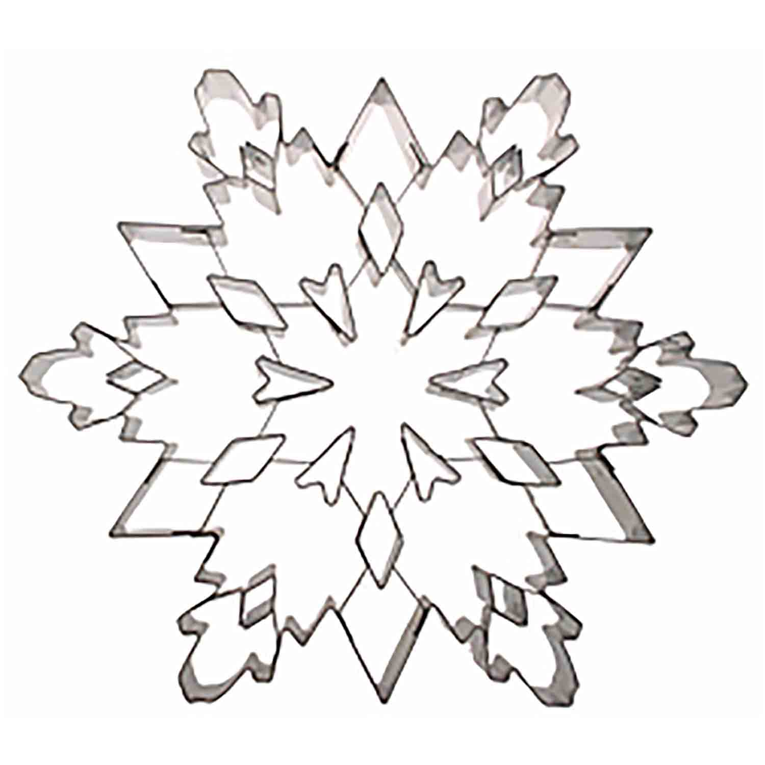 Extra-Large Snowflake With Insert Cookie Cutter
