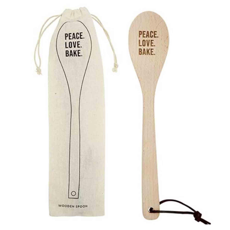 Peace Love Bake Spoon Set