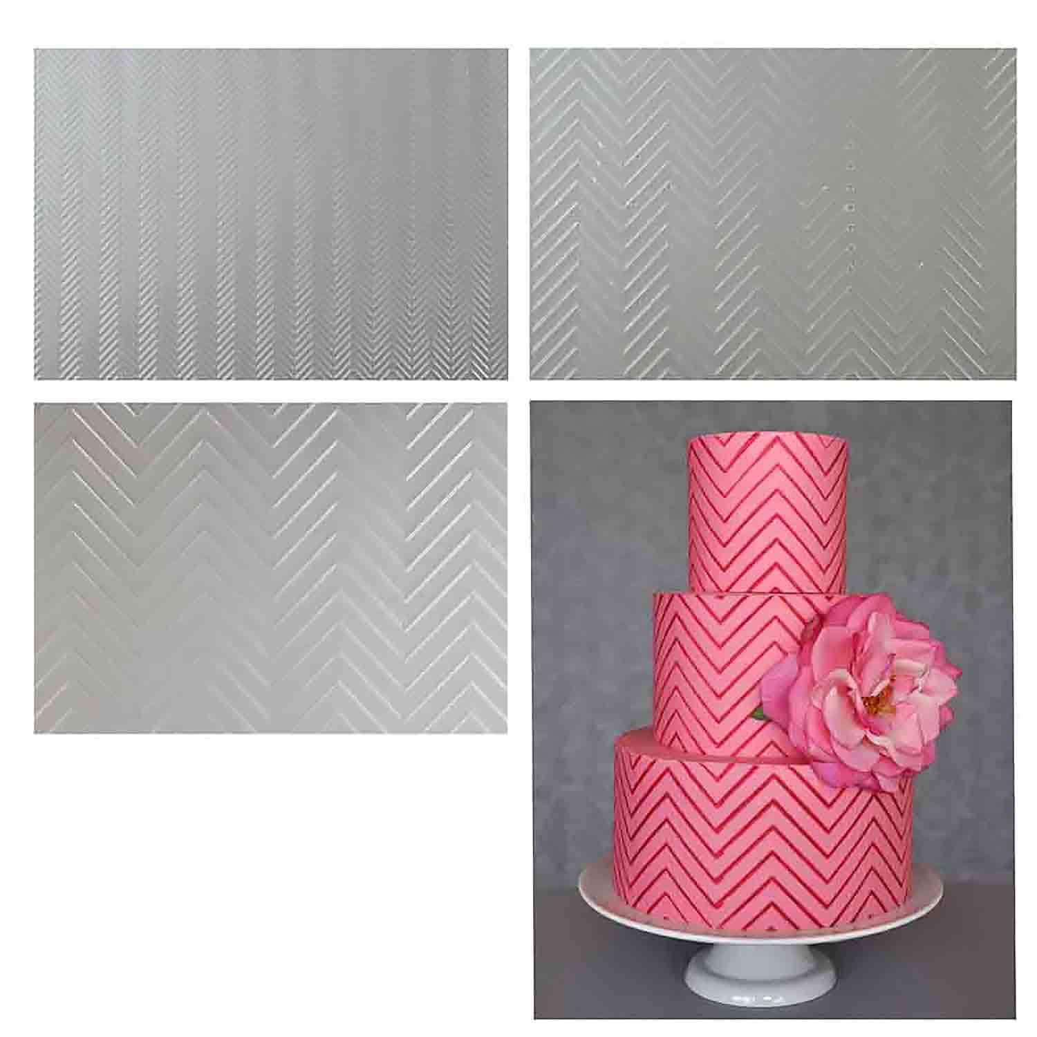 Chevron Pattern Texture Sheet Set by Lauren Kitchens