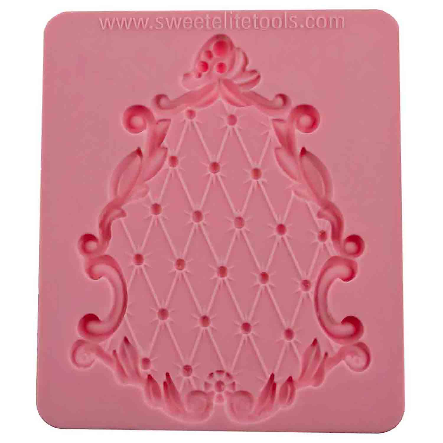 Pouf Plaque Silicone Mold by Colette Peters