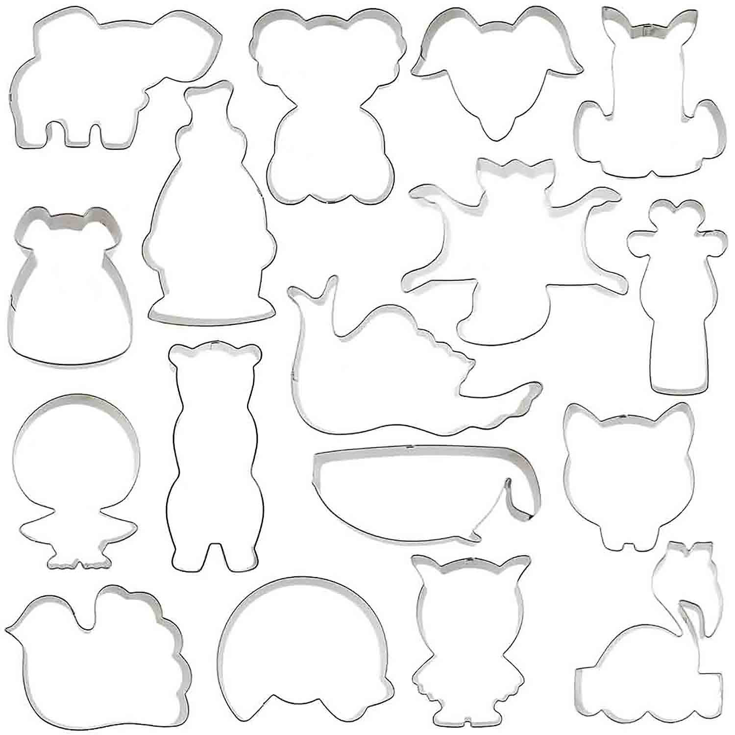 Animal Cookie Cutter Set for Charity