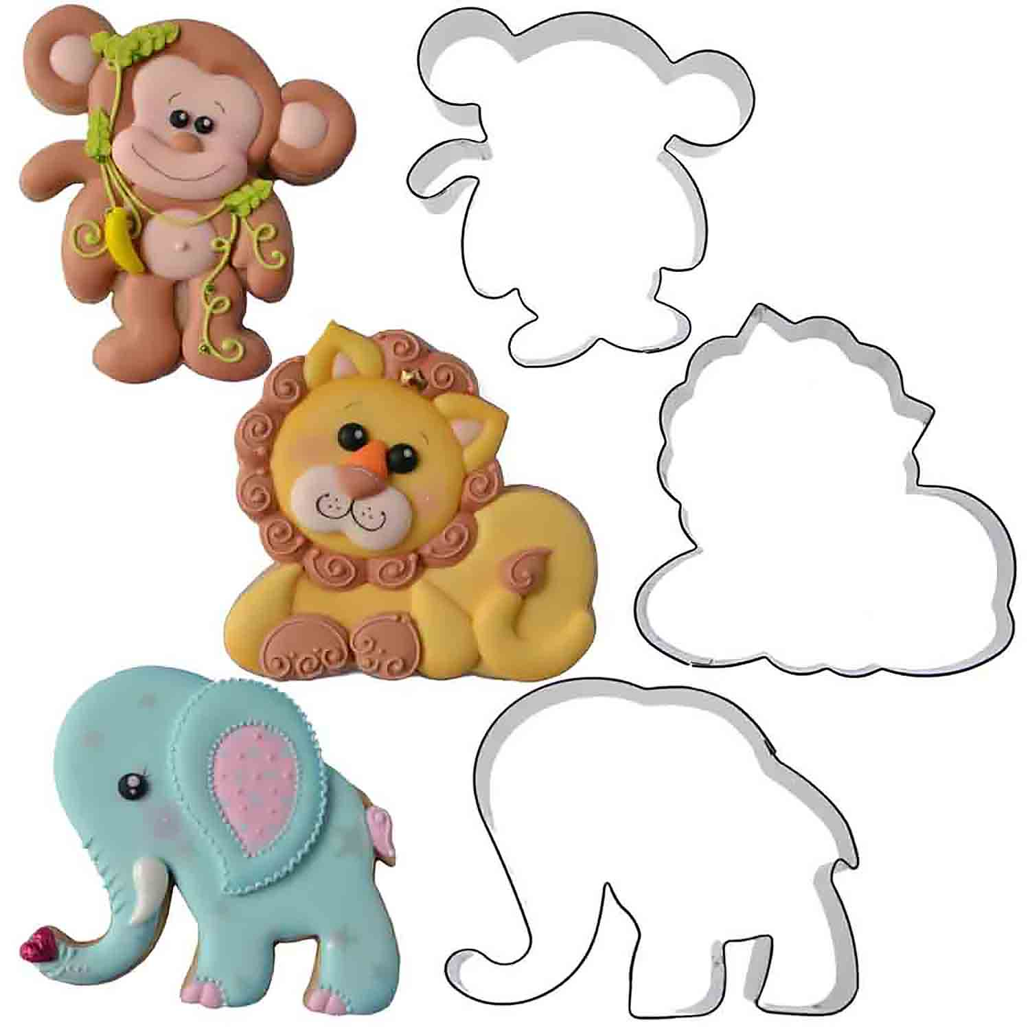 Jungle Cookie Cutter Set by Chapix Cookies