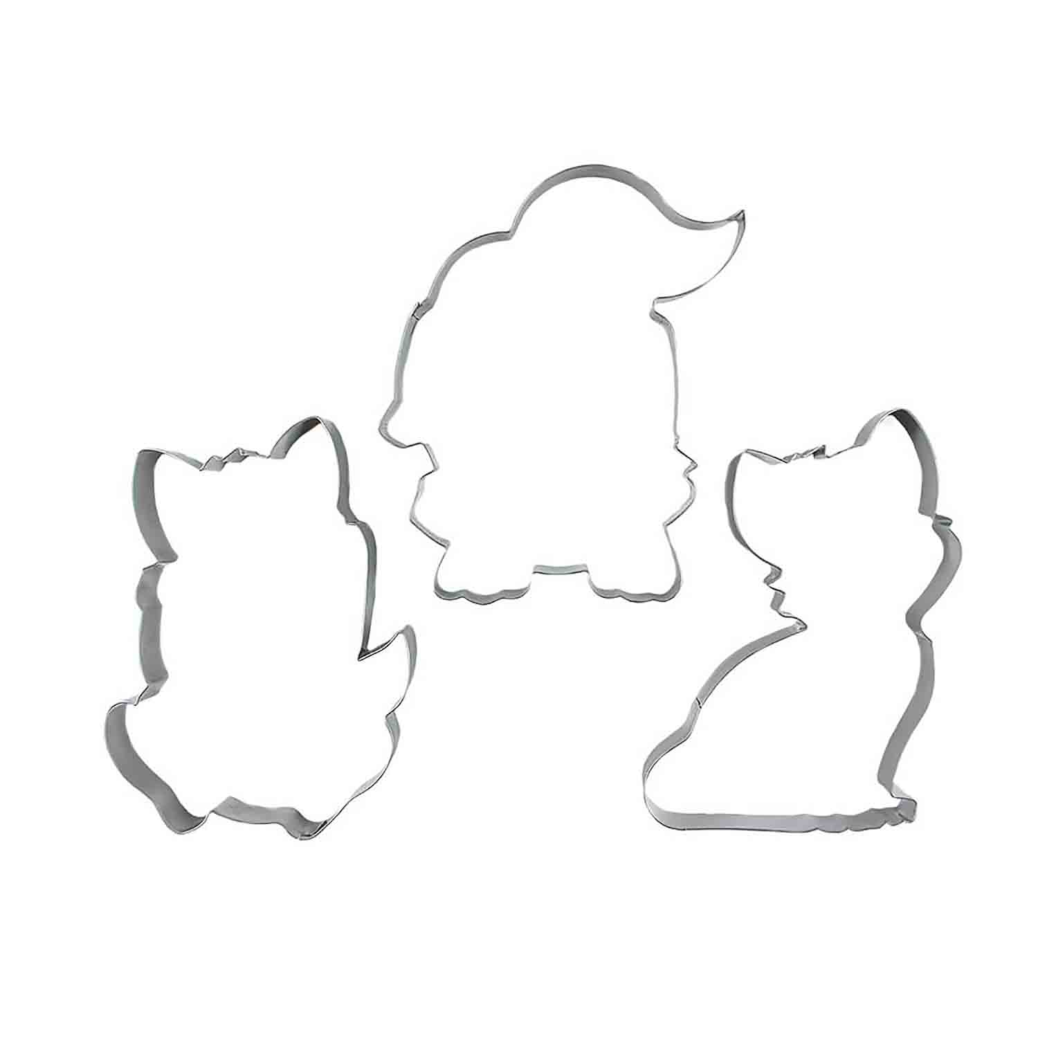 Palm Pets Puppy, Kitten or Fox Cookie Cutter Set by The Floured Canvas