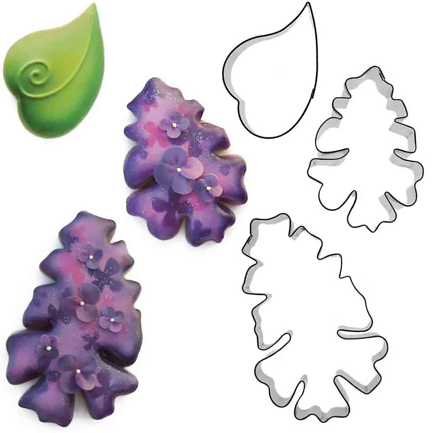 Lilac Cookie Cutter Set by Blyss Cookies